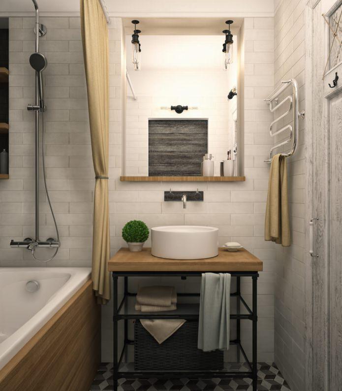 Дизайн ванной комнаты в однокомнатной квартире-распашонке