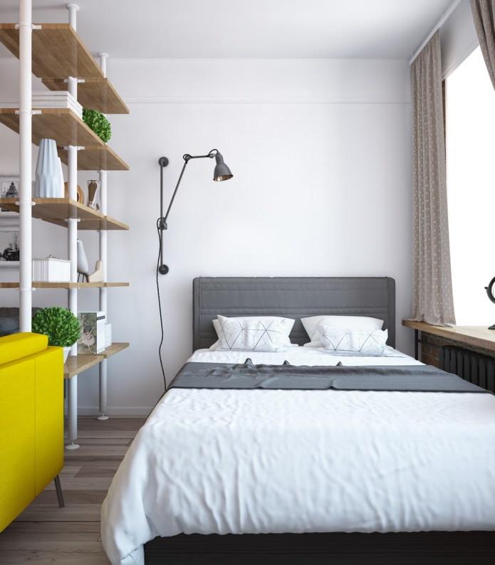 Дизайн спальни в однокомнатной квартире-распашонке