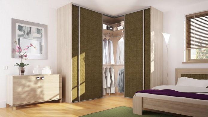 раздвижные двери для углового шкафа в спальню