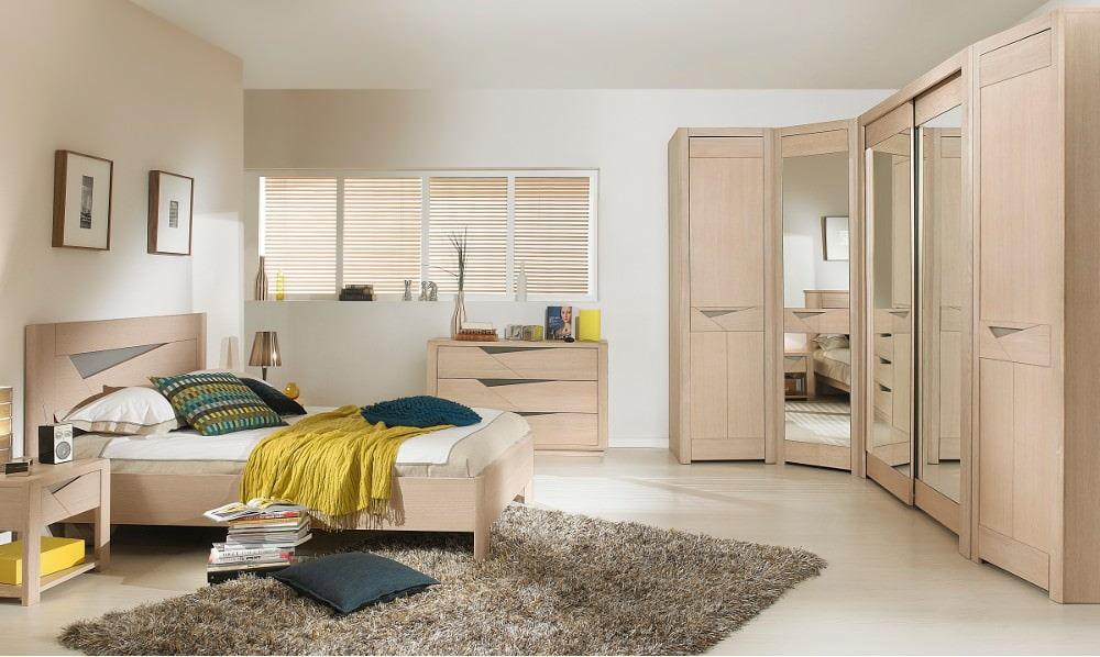 Спальня с угловым шкафом: наполнение, размеры, дизайн, фото.