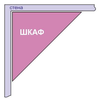 схема треугольного углового шкафа