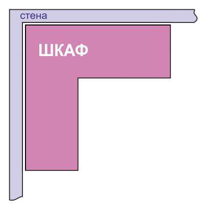 схема г-образного углового шкафа