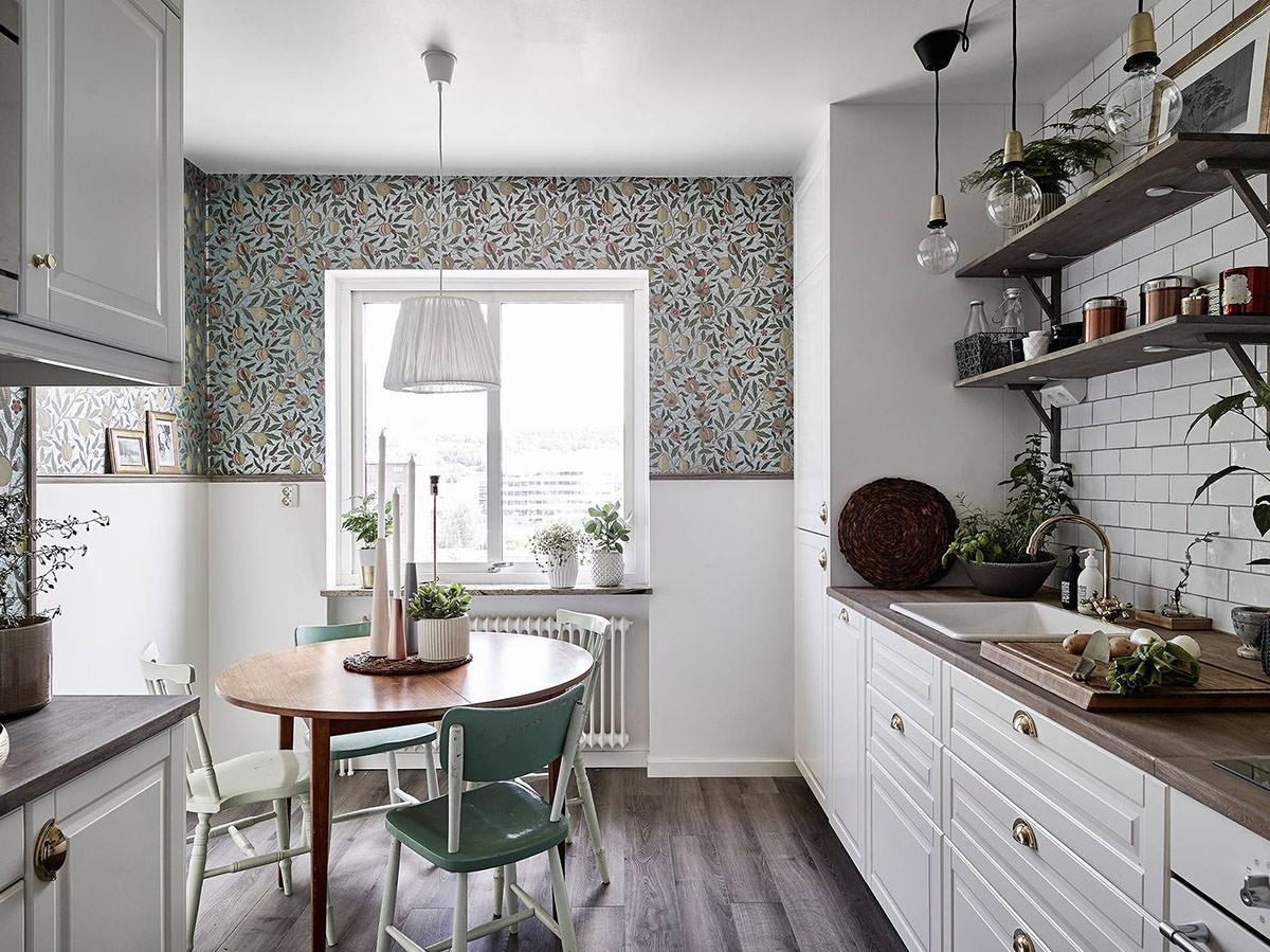 Дизайн обоев для кухни в квартире фото 2018 современные идеи