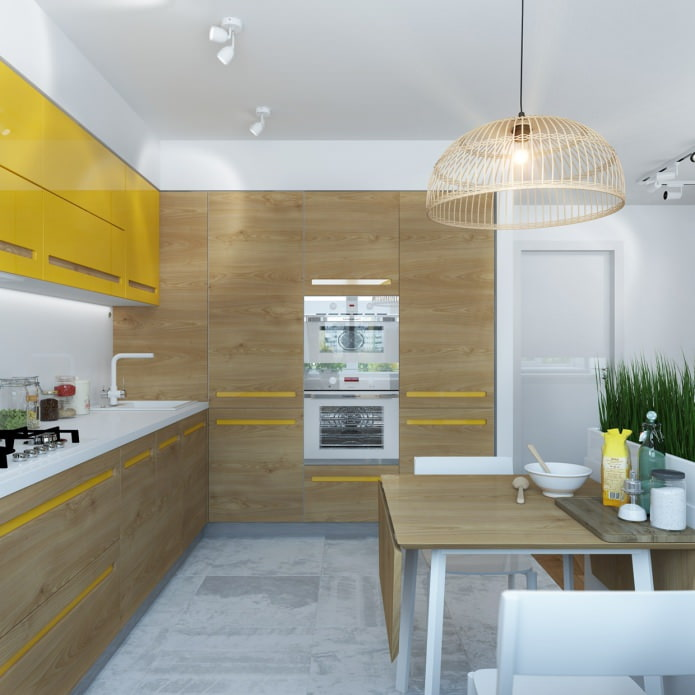 Дизайн кухни 65 метров