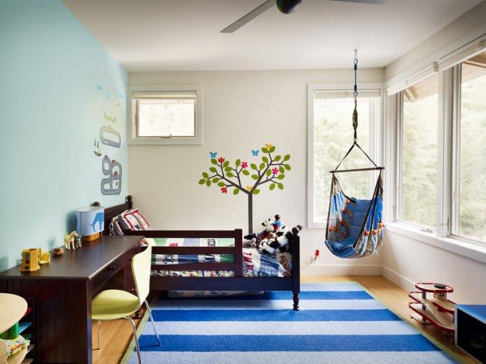Качели в интерьере квартиры: фото, подвесные качели, детские качели