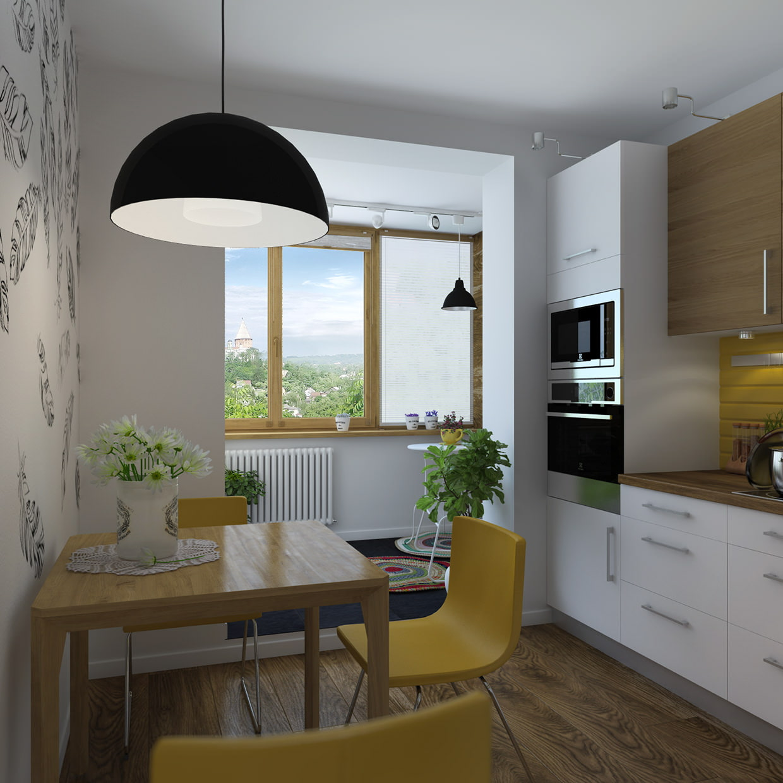 Однокомнатная квартира с лоджией: дизайн, планировка, фото.