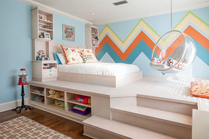 Детская кровать-подиум