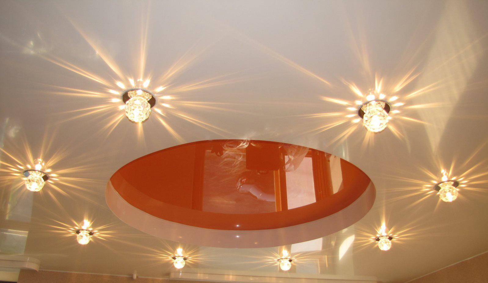 потолок натяжной с светильниками фото пенсионерки смоленской