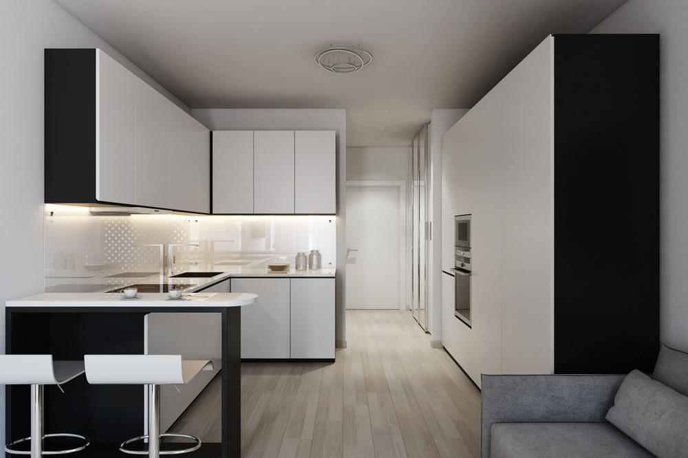 Дизайн квартиры студии 24 кв.м фото с одним окном