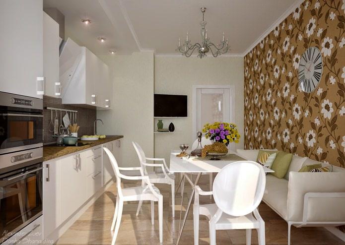 Дизайн потолка из гипсокартона на кухне