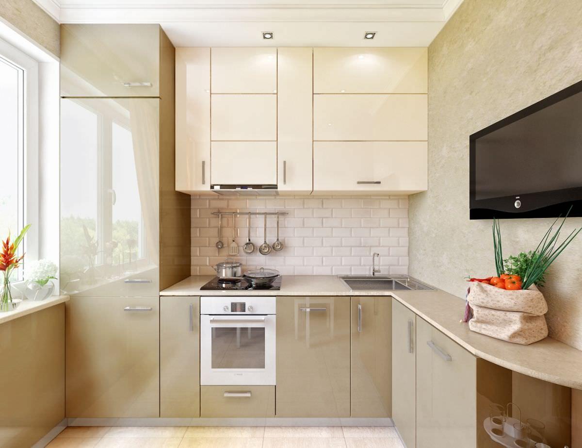 Дизайн кухни 9 кв.м фото современной угловой кухни 9 кв. м. .
