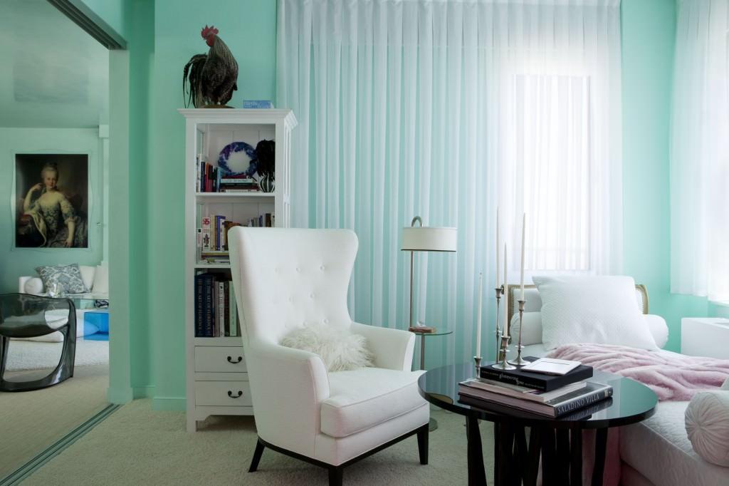 Светло-бирюзовый цвет в интерьере фото