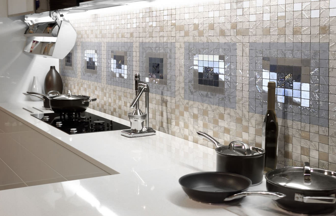 Кухонный фартук из мозаики: фото, дизайн, обзор материалов