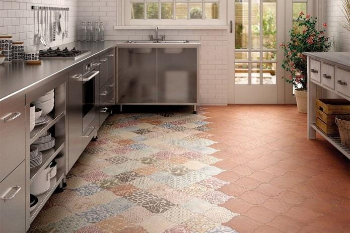 плитка patchwork на полу