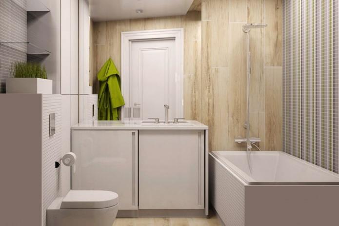 Дизайн маленькой совмещенной ванной