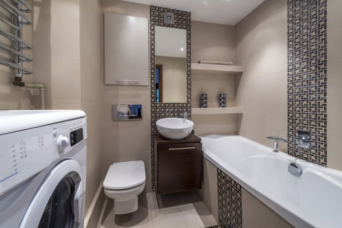Дизайн маленькой ванной с туалетом
