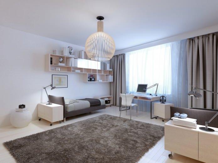 Дизайн спальни для девушки в современном стиле