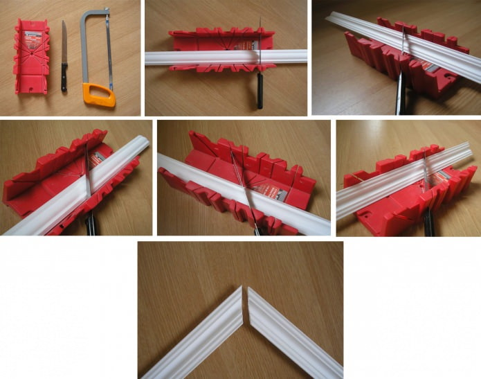стусло для обрезки потолочного плинтуса