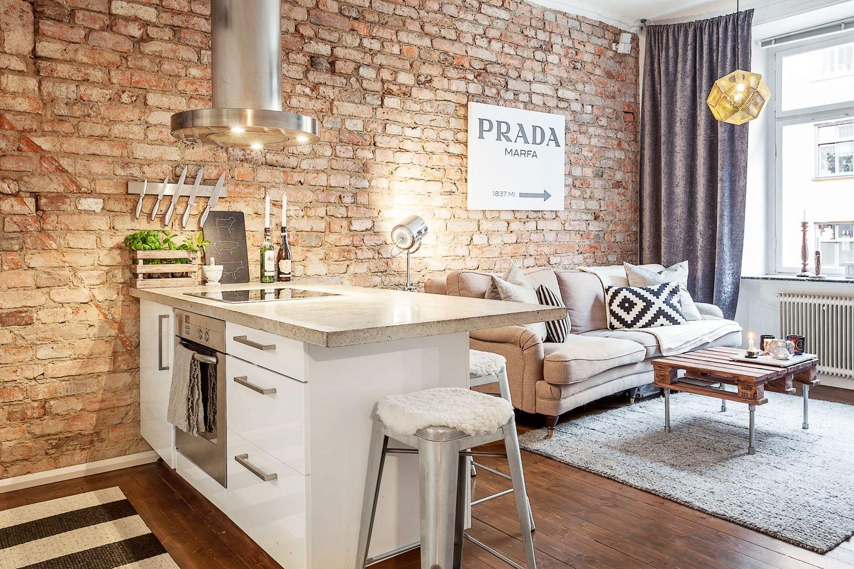 картинки гостиная кухня