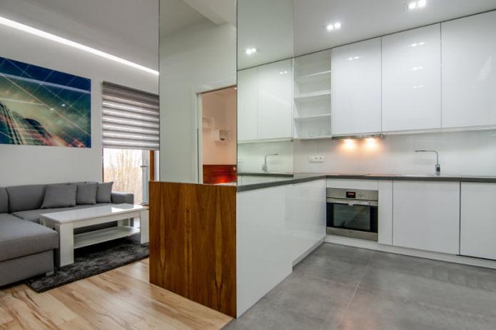 Интерьер совмещенной кухни-гостиной