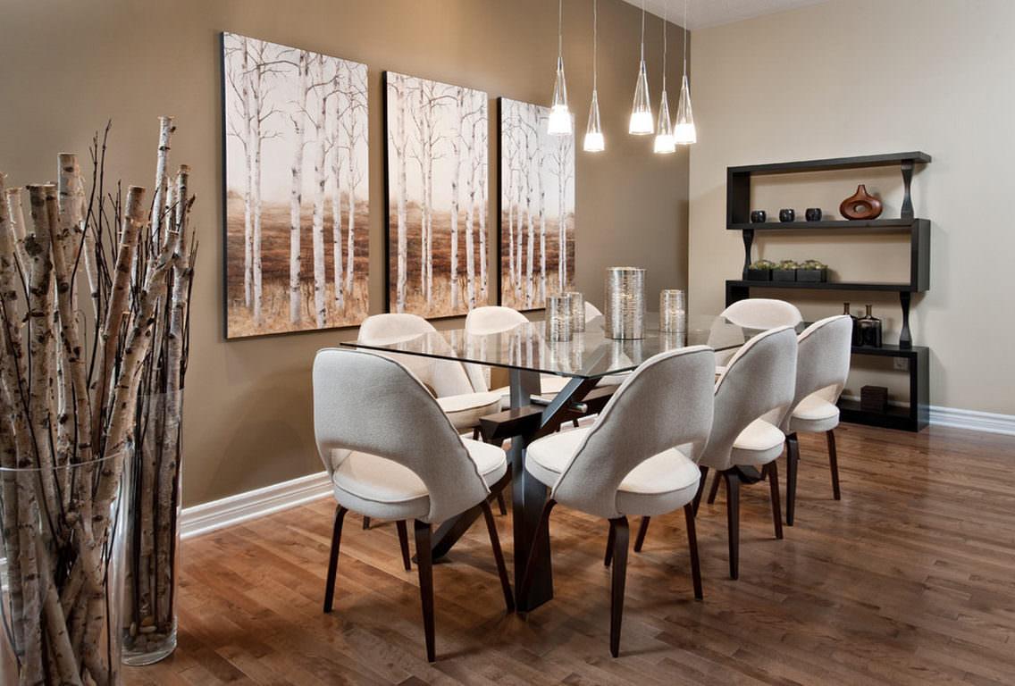 Contemporary dining room decor ideas