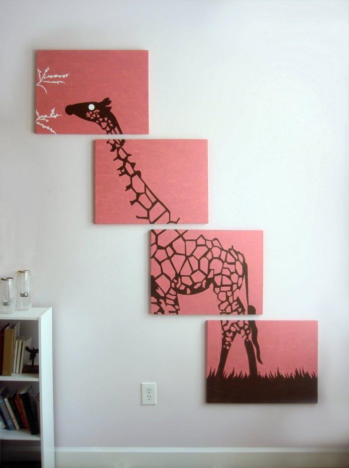 модульная картина с изображением жирафа