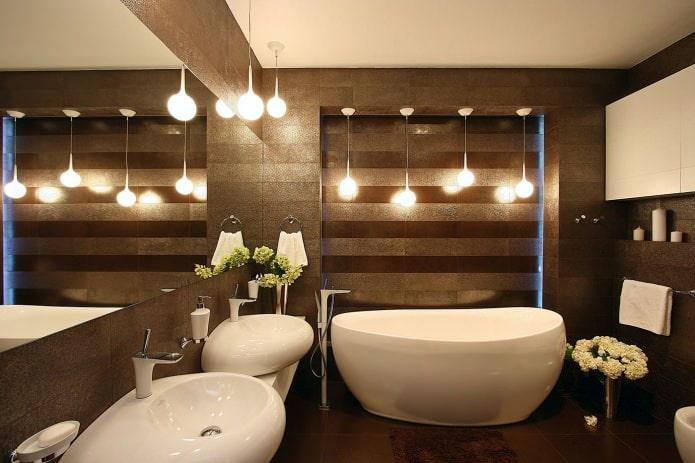 отельностоящая ванна в современном стиле