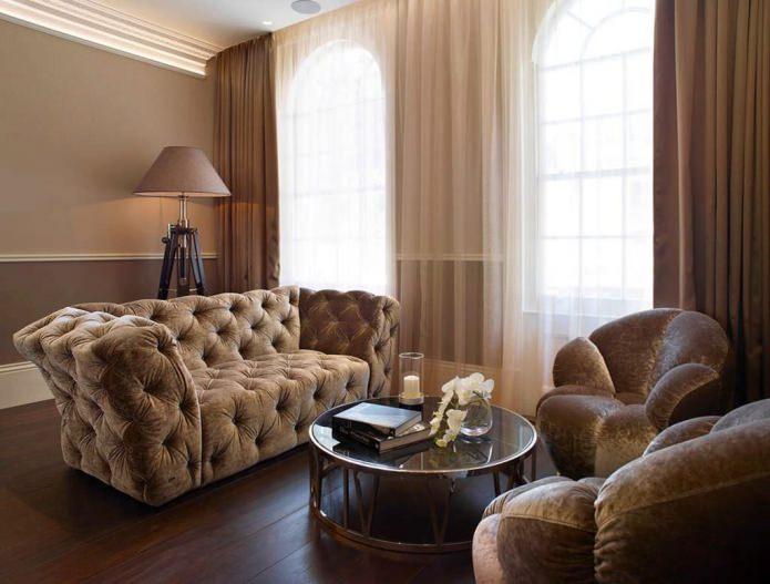 Коричневый цвет в интерьере: сочетания, оттенки коричневого, фото