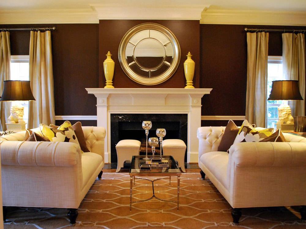 дешевые с каким цветом сочетается коричневый цвет в интерьере фото кресло стало