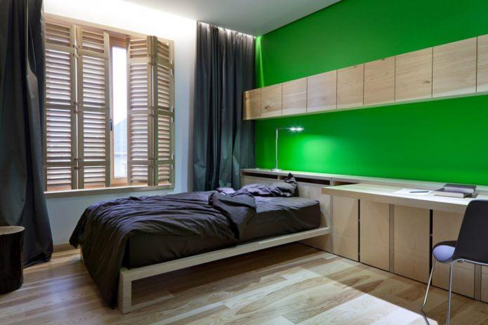 Серо-зеленая комната
