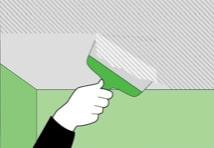 Подготовка к поклейке потолочной плитки