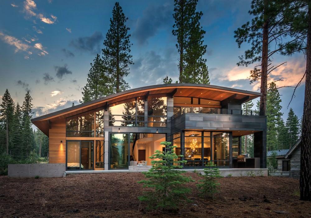 Современные проекты деревянных домов фото