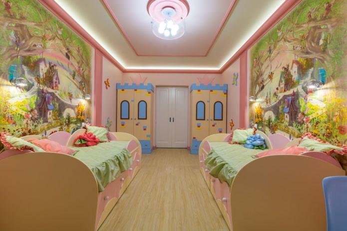 фотообои в детской комнате для девочки