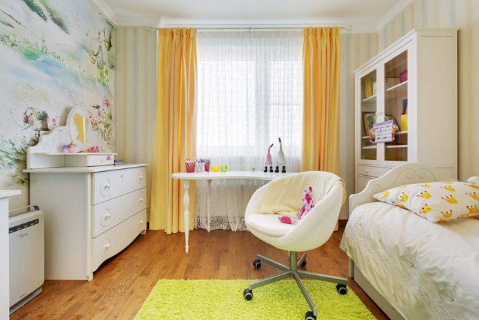 обои в детской комнате для девочки 6-9 лет