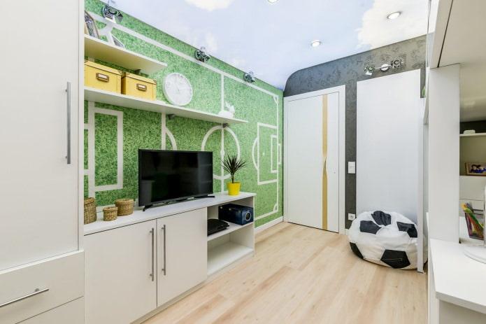 белая межкомнатная дверь в интерьере детской