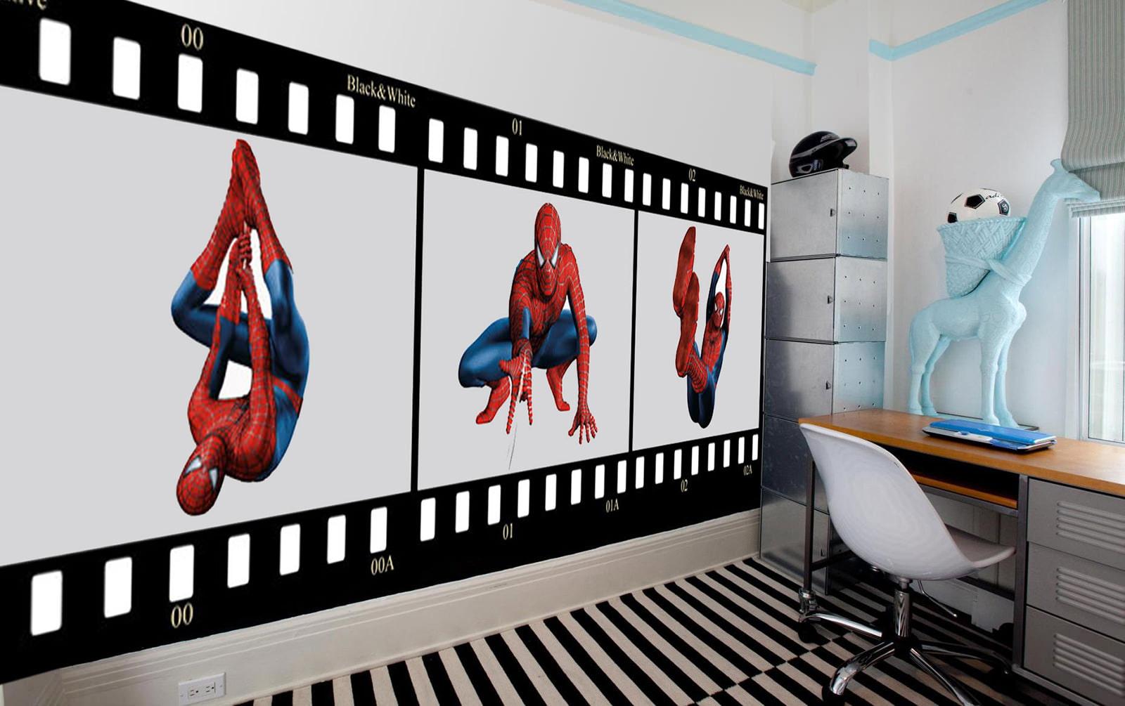 Обои с человеком пауком для детской комнаты для