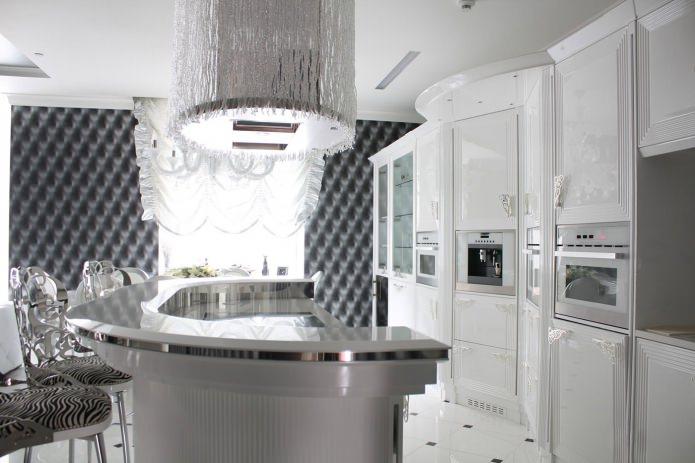 Белый кухонный гарнитур: особенности выбора, сочетания, 70 фото в интерьере - 36