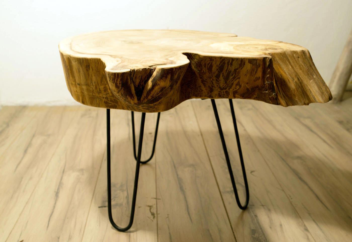 Журнальный столик своими руками из спила дерева7