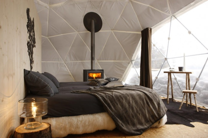 интерьер спальни в эко-стиле