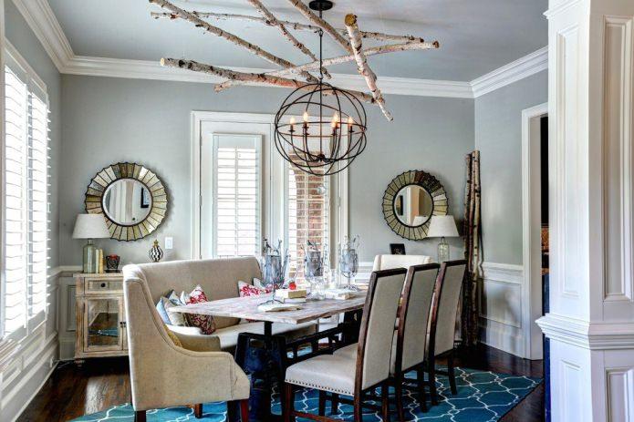 интерьер столовой в эко-стиле