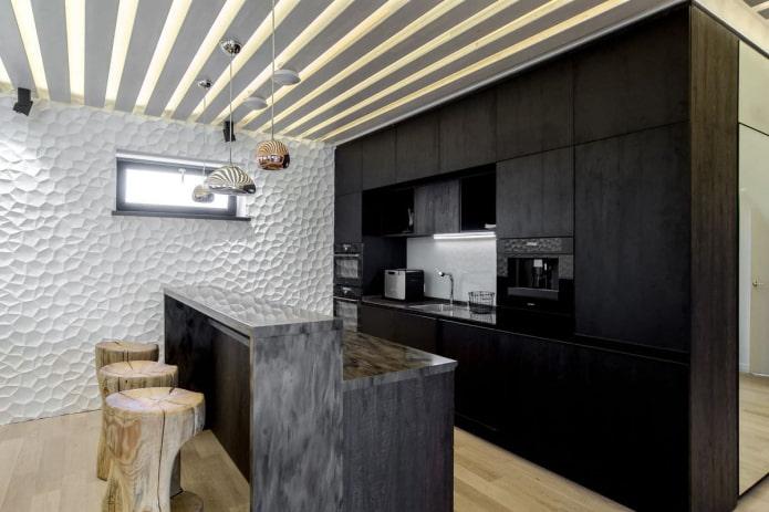 Оформление кухни в эко-стиле