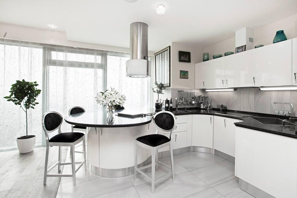 Кухни белые дизайн