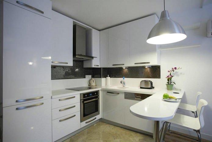 современная кухня с барной стойкой дизайн 60 фото в интерьере