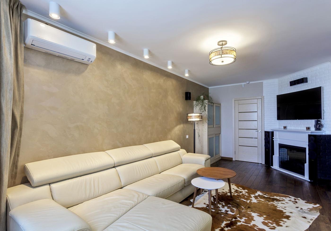 Натяжной потолок гостиная 18 кв м дизайн