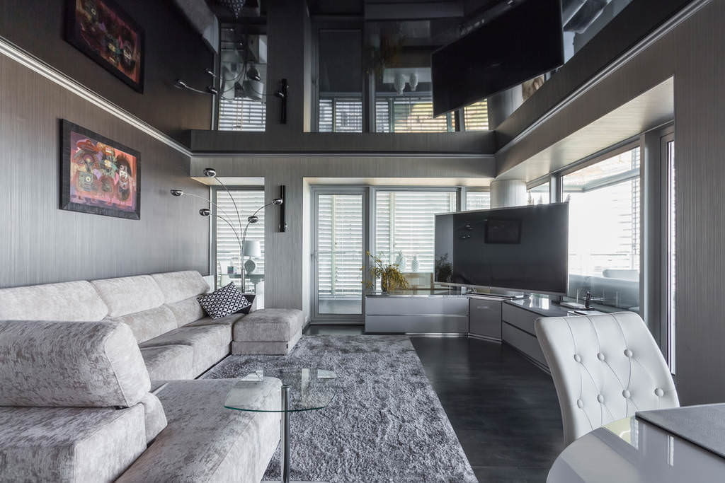 Дизайн натяжной потолок фото