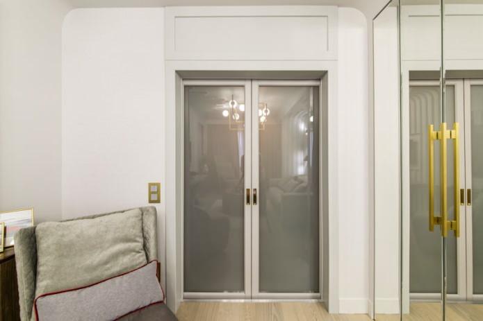 стеклянная межкомнатная дверь в интерьере