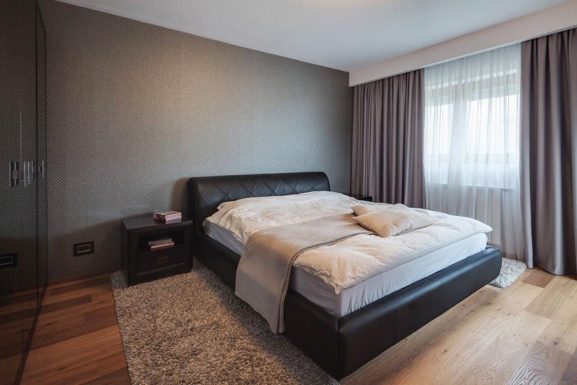 серые обои в интерьере спальни вдохновляющие идеи для дизайна 70 фото