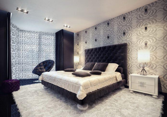красивые обои на стене в спальне