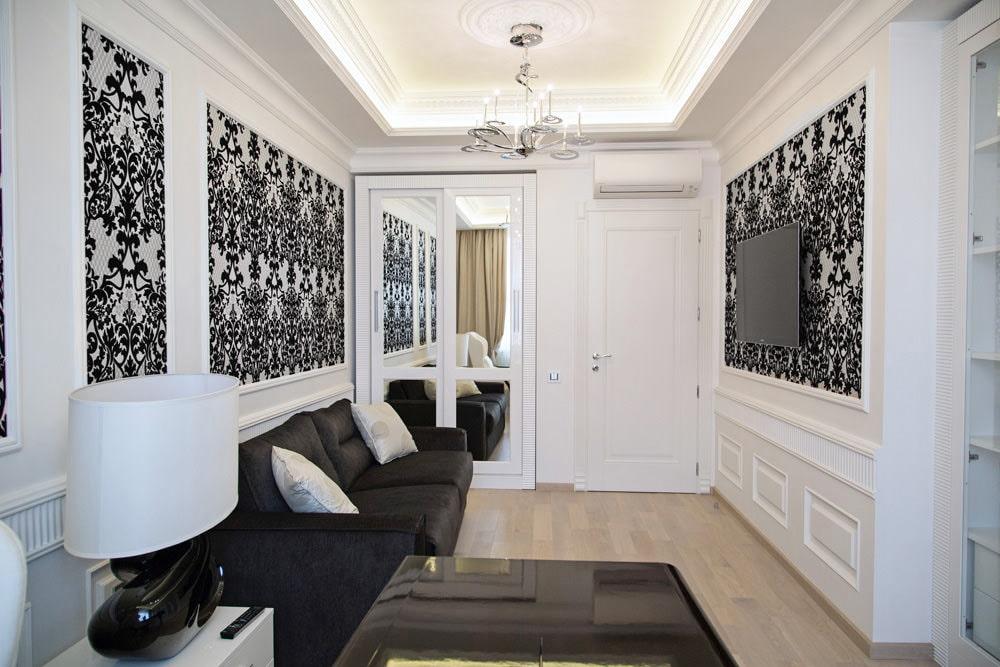 Черно белые фото в интерьере гостиной только покинуть