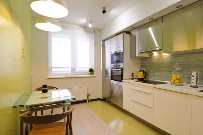 Рулонная штора в кухне